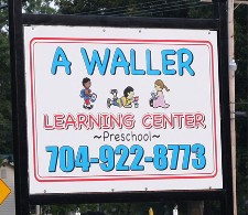 A Waller Learning Center Sign